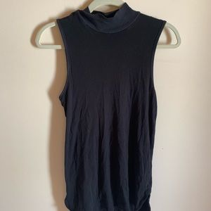 Splendid black mock neck tank